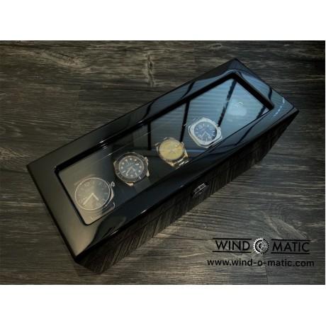 5 Black Watch Box with Strap Slot